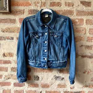 Levi's Crop Boyfriend Trucker Jacket